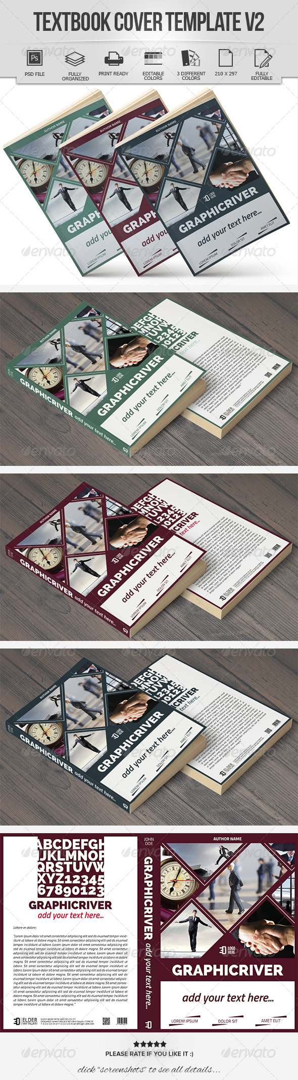 Textbook Cover Template V2 - Miscellaneous Print Templates
