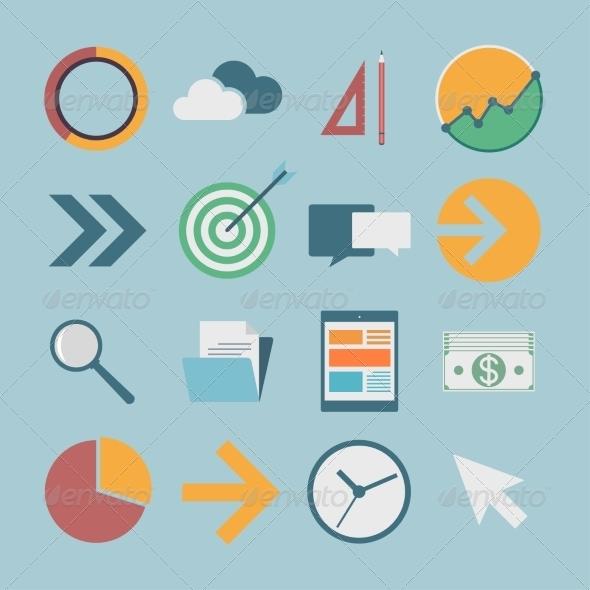Flat Icons - Web Technology