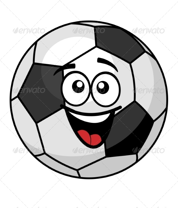 Soccer Ball with a Happy Smile - Sports/Activity Conceptual
