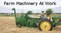 Farm machinery at work