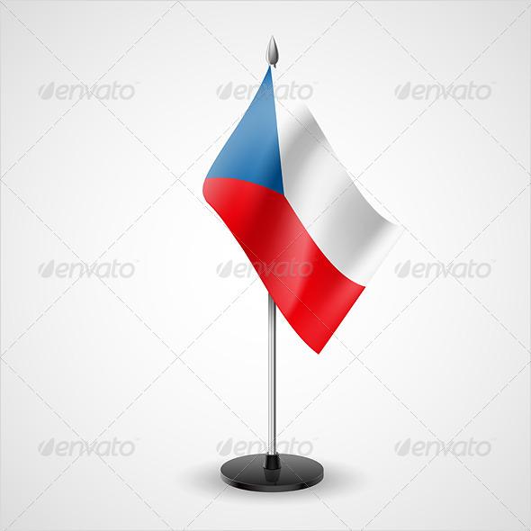 Table Flag of Czech Republic - Miscellaneous Vectors