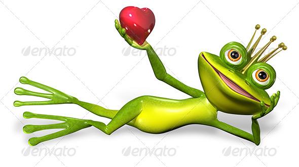Princess Frog - Characters 3D Renders