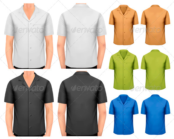 Black and White and Color Men's T-Shirts - Commercial / Shopping Conceptual