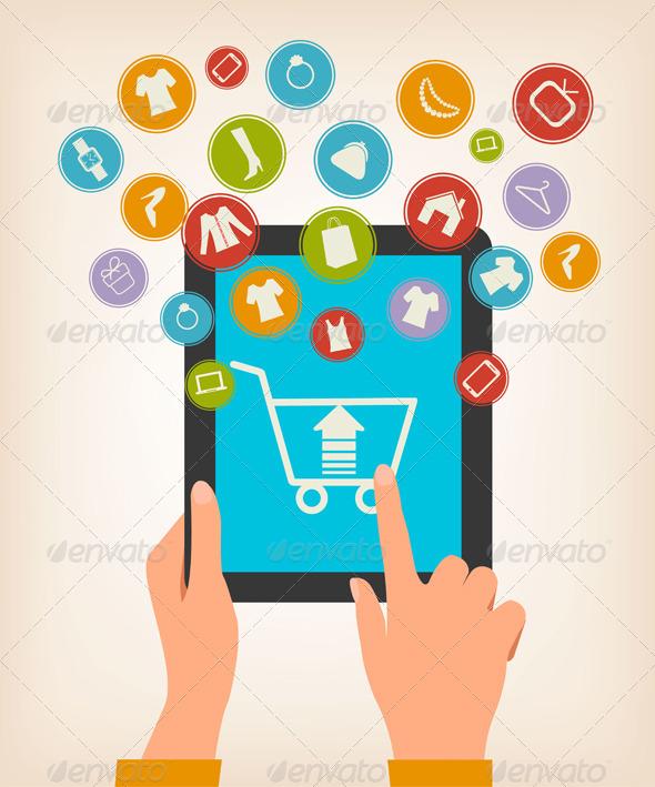 E-Shopping Concept  - Commercial / Shopping Conceptual