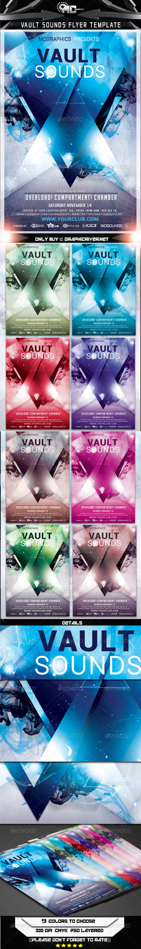 Vault Sounds Flyer Template - Flyers Print Templates