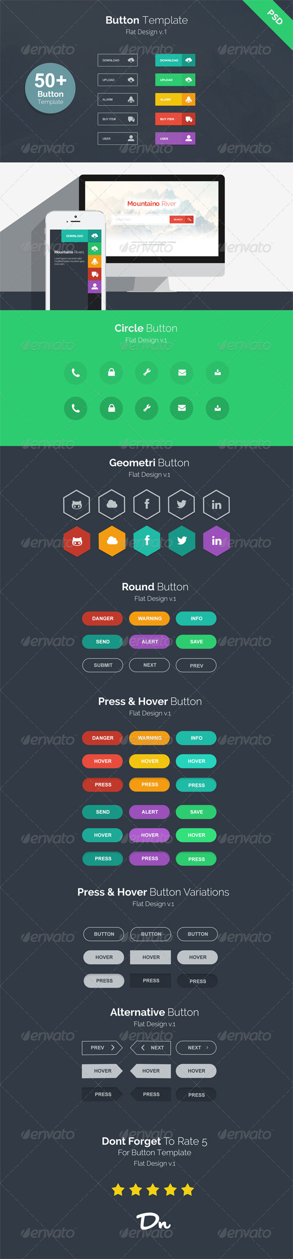 Button Template v.1 - Buttons Web Elements