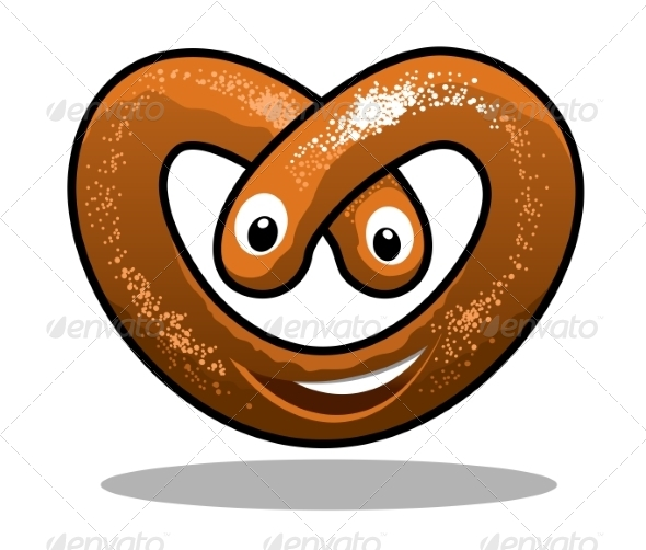 Happy Curly Pretzel - Food Objects