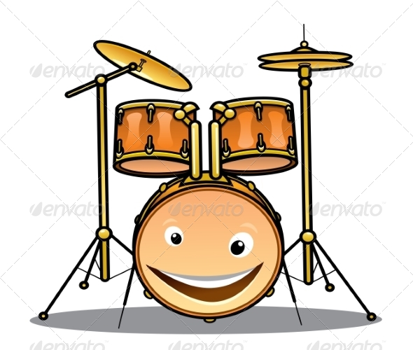 Set of Drums and Cymbals for a Band - Man-made Objects Objects