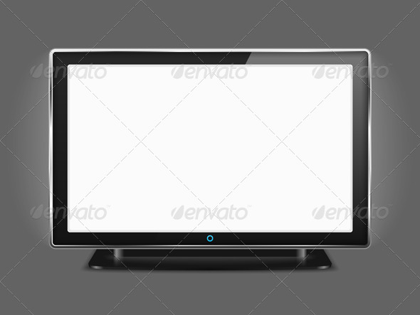 LCD TV - Objects Vectors