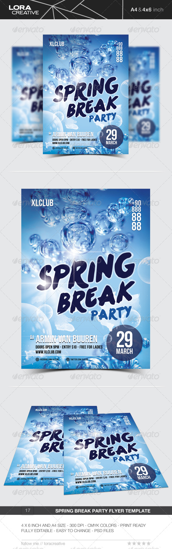 Spring Break Party Flyer / Poster - 17 - Clubs & Parties Events