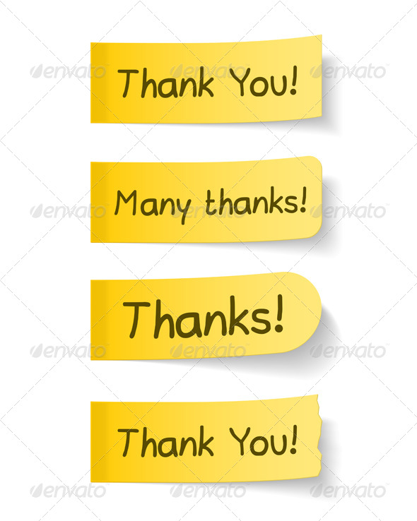 Thank You - Objects Vectors