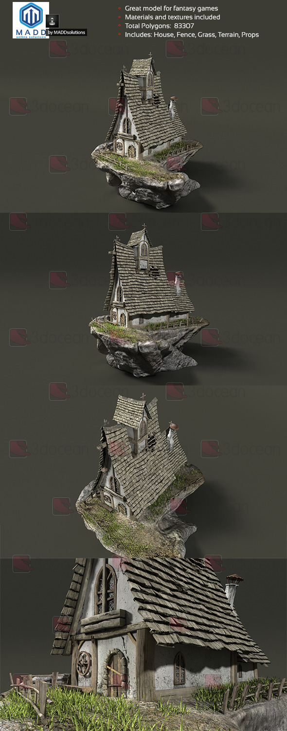 Fantasy House - Fairytale Cottage - 3DOcean Item for Sale