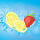Lemon-Strawberry Water Splash - GraphicRiver Item for Sale