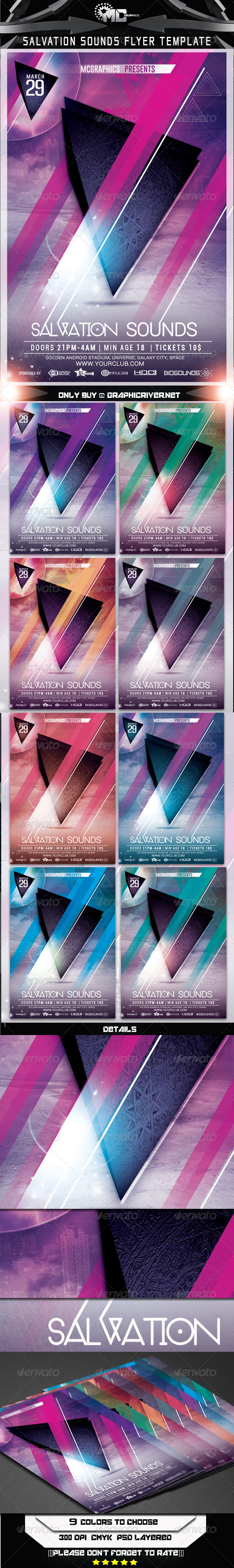 Salvation Sounds Flyer Template - Clubs & Parties Events