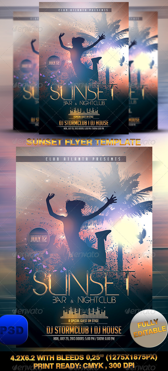 Sunset Flyer Template - Events Flyers