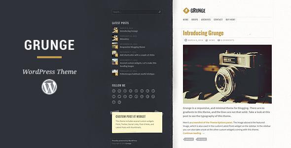 Grunge – Responsive Blog Theme