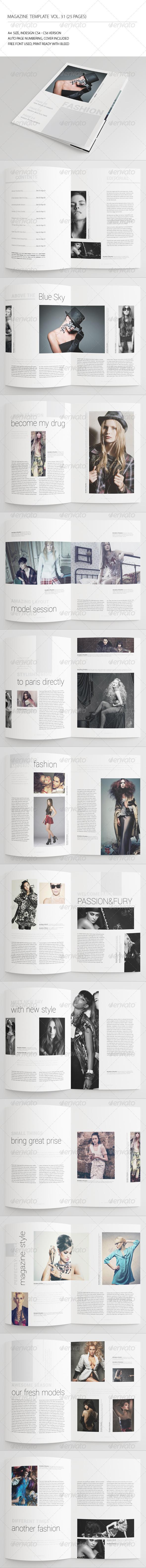 25 Pages Fashion Magazine Vol31 - Magazines Print Templates