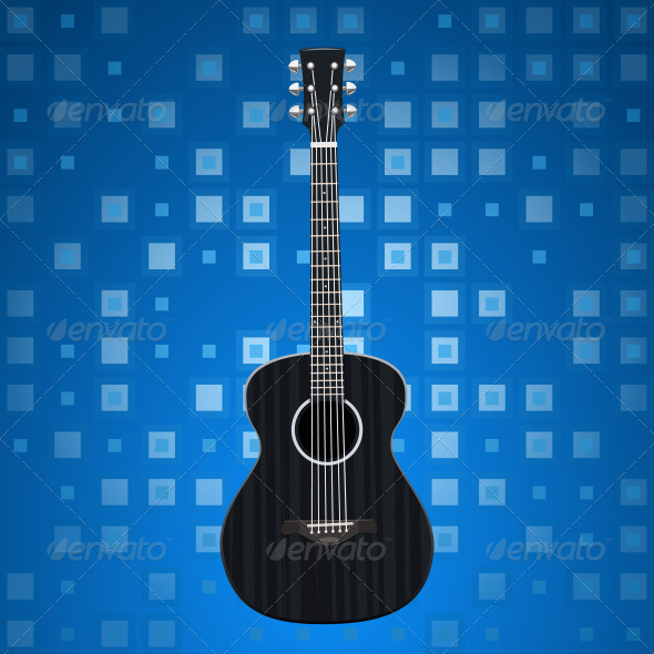 Music Background with Guitar - Conceptual Vectors