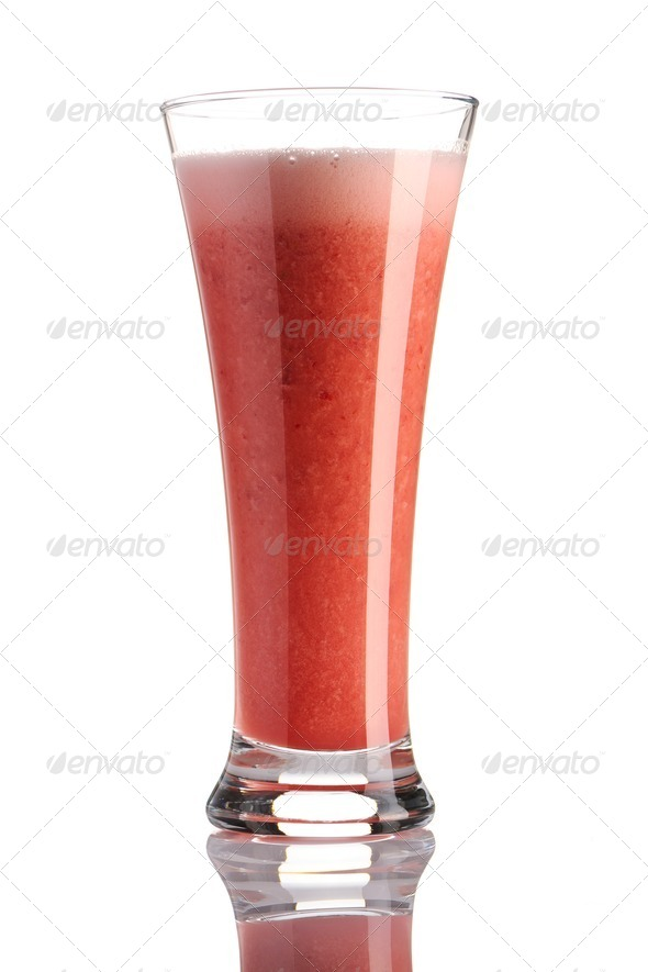 Strawberry smoothie - Stock Photo - Images