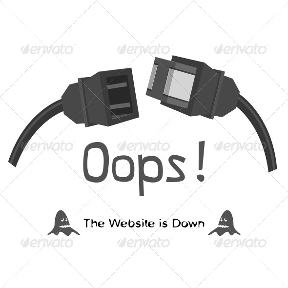 The Website is Down - Web Elements Vectors