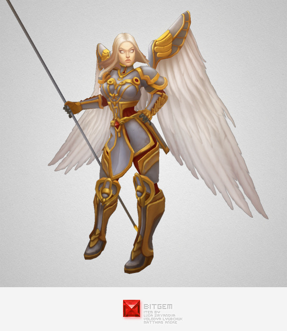 Low Poly Angel Female - 3DOcean Item for Sale