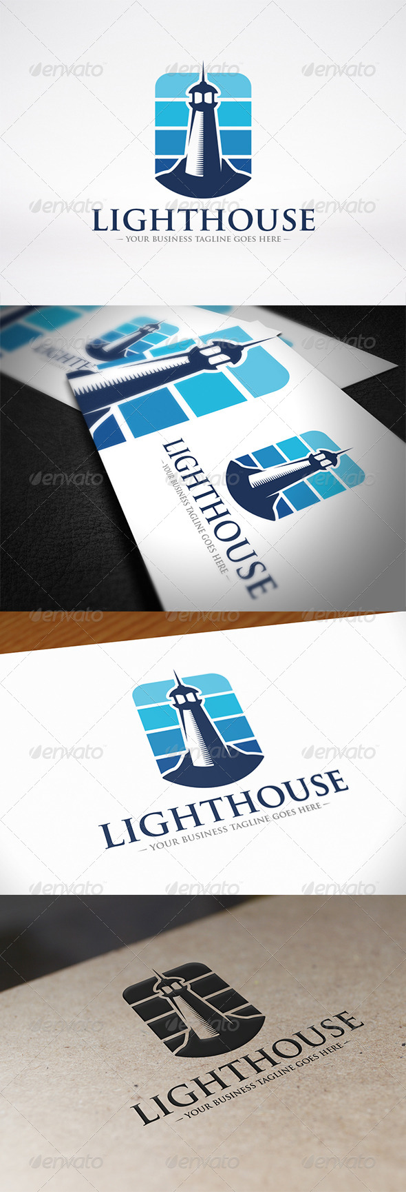 Lighthouse Logo Identity - Buildings Logo Templates