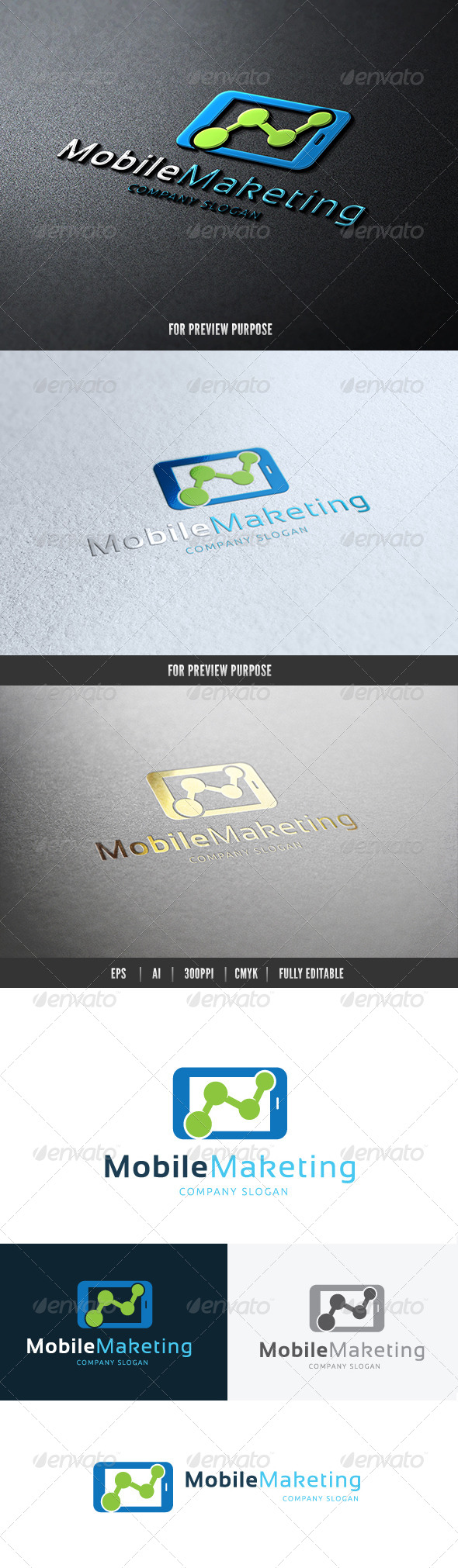 Mobile Marketing - Objects Logo Templates