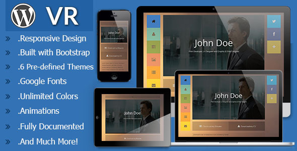 VR - Responsive vCard WordPress Theme - Portfolio Creative