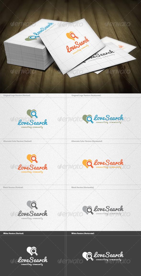 Love Search Logo - Symbols Logo Templates