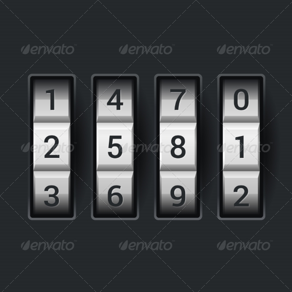 Combination Lock Number Code - Concepts Business