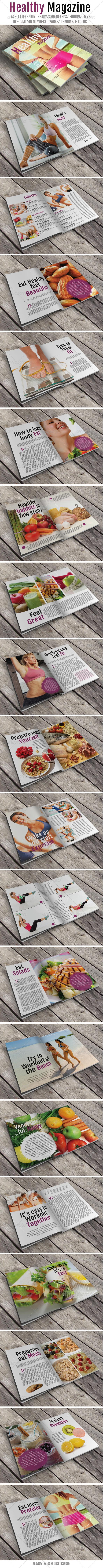 Healthy Magazine - Magazines Print Templates