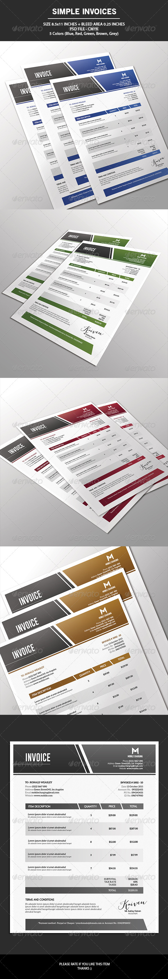 Simple Invoices - Proposals & Invoices Stationery