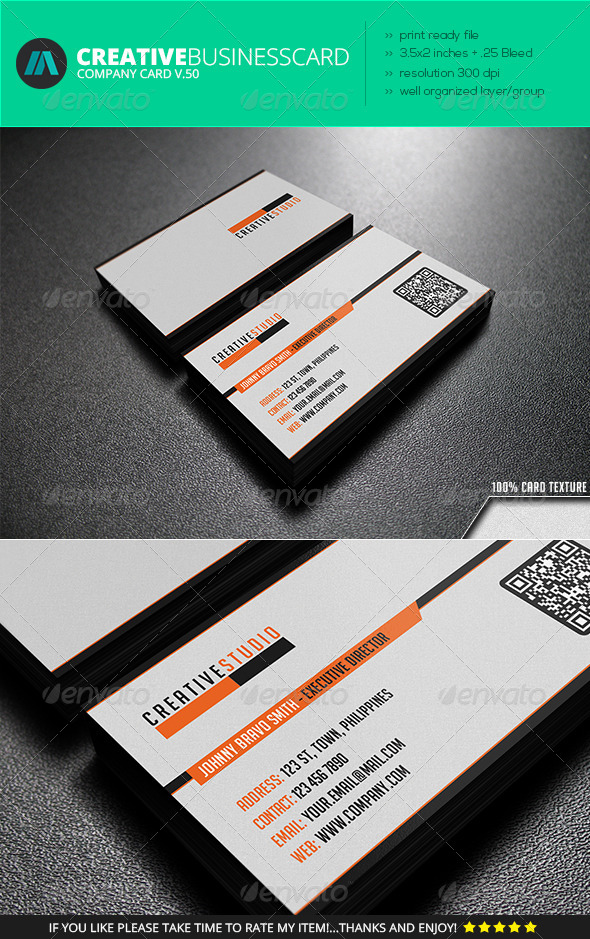 IntenseArtisan Business Card Vol.50 - Corporate Business Cards