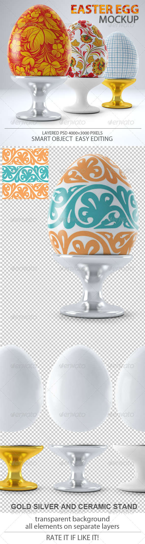 Easter Egg Mock-up - Miscellaneous Product Mock-Ups