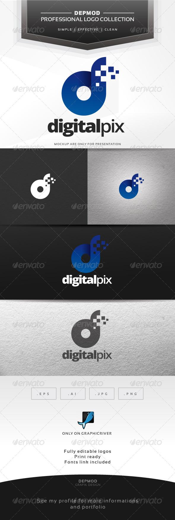 Digital Pix Logo - Letters Logo Templates