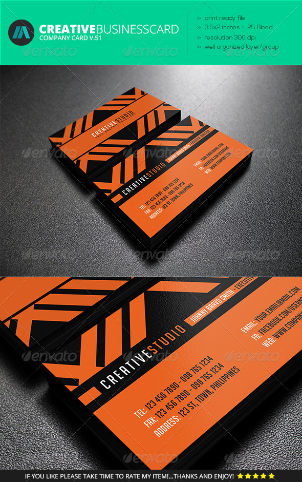 IntenseArtisan Business Card Vol.51 - Corporate Business Cards
