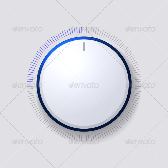 Volume Control Dial White Button - Media Technology