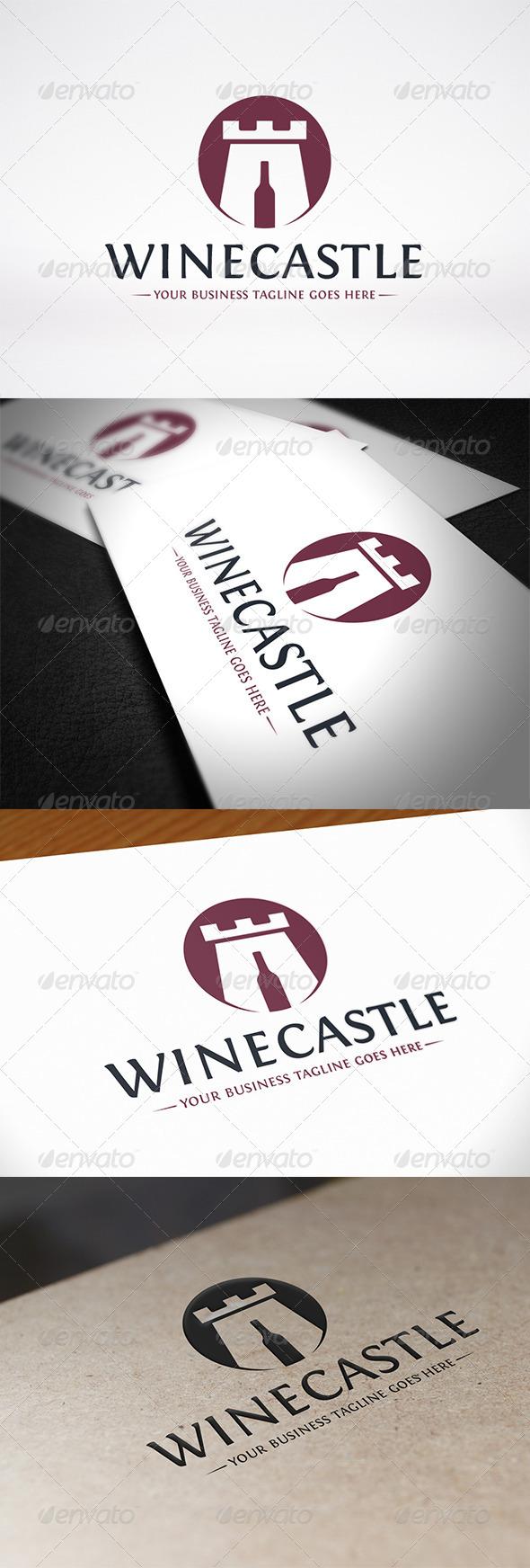 Wine Castle Logo Template - Food Logo Templates