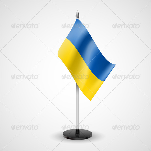 Table Flag of Ukraine - Miscellaneous Vectors