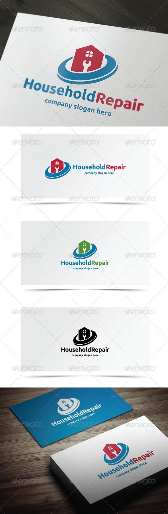 Household Repair - Buildings Logo Templates