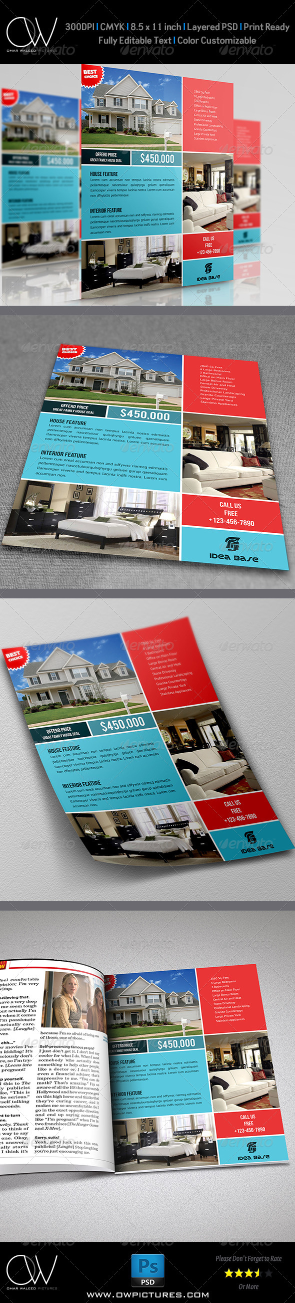 Real Estate Flyer Template Vol.9 - Commerce Flyers