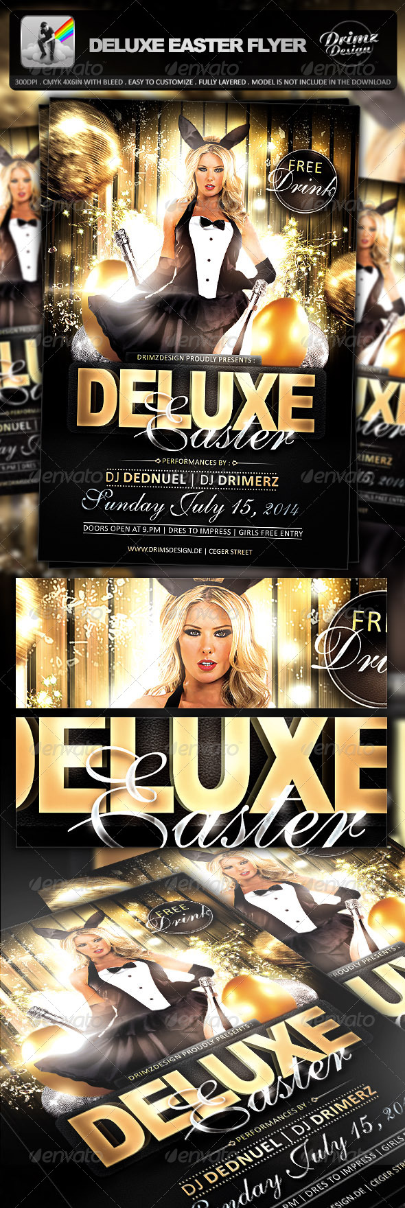 Deluxe Easter Flyer - Events Flyers