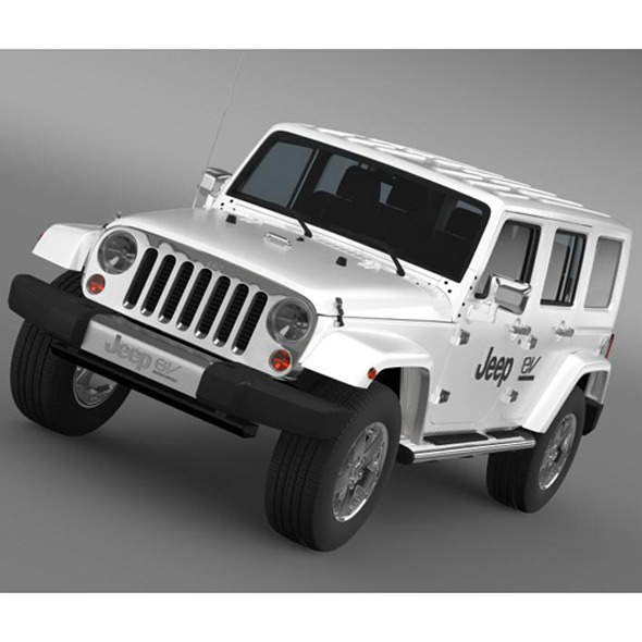 Jeep Wrangler Electric Vehicle Concept - 3DOcean Item for Sale