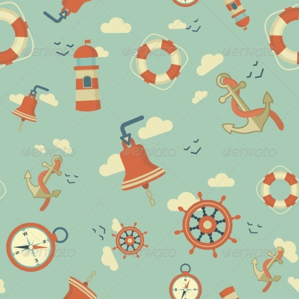 Maritime Pattern - Travel Conceptual