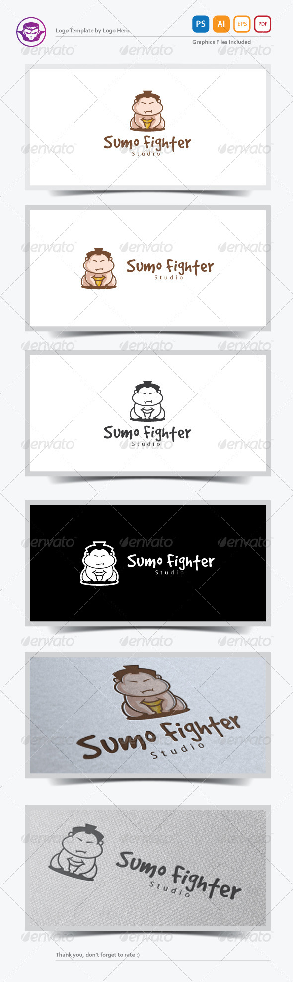 Sumo Fighter Logo Template - Humans Logo Templates
