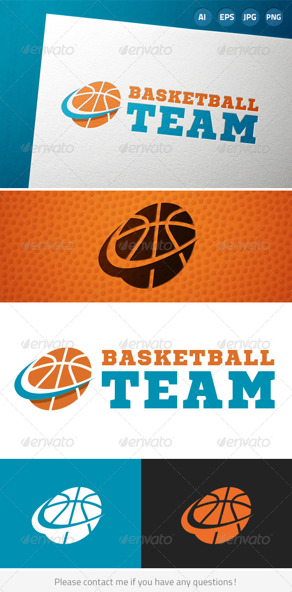 Basketball Team Sports Logo - Symbols Logo Templates