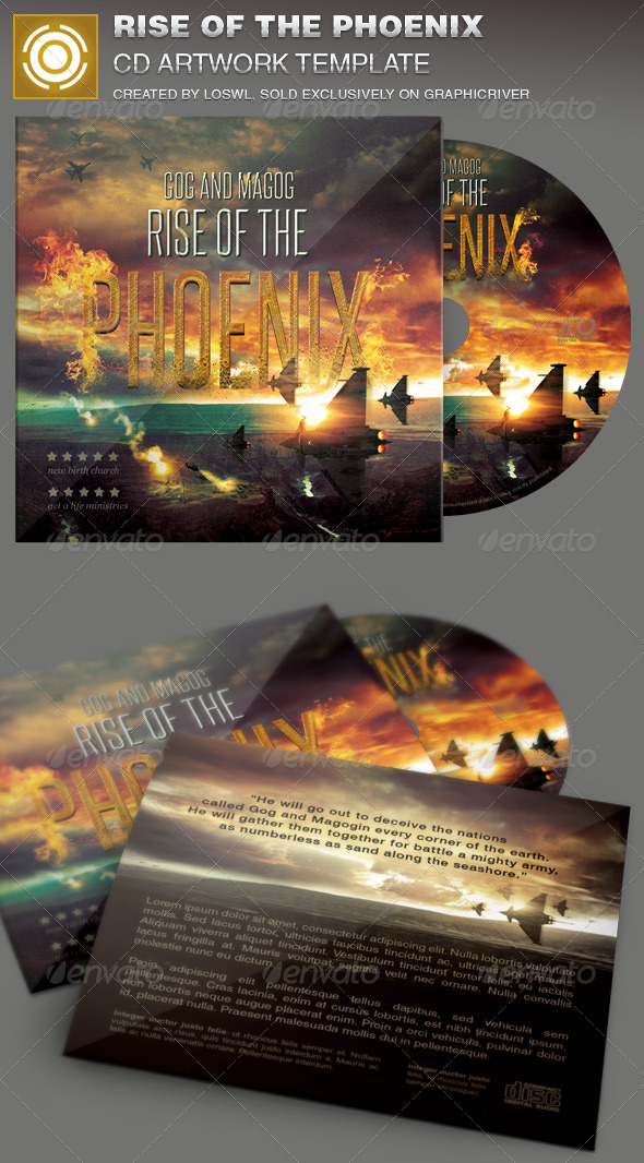Rise of the Phoenix CD Artwork Template - CD & DVD Artwork Print Templates