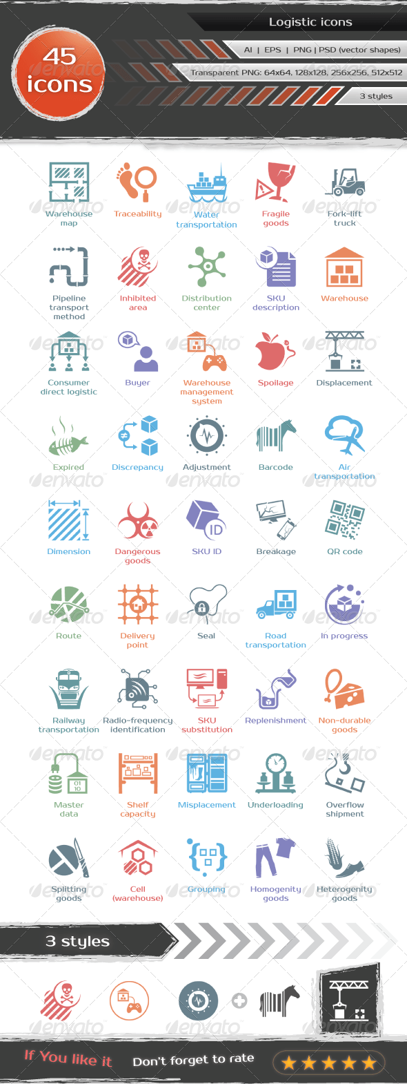 Logistic icons - Technology Icons