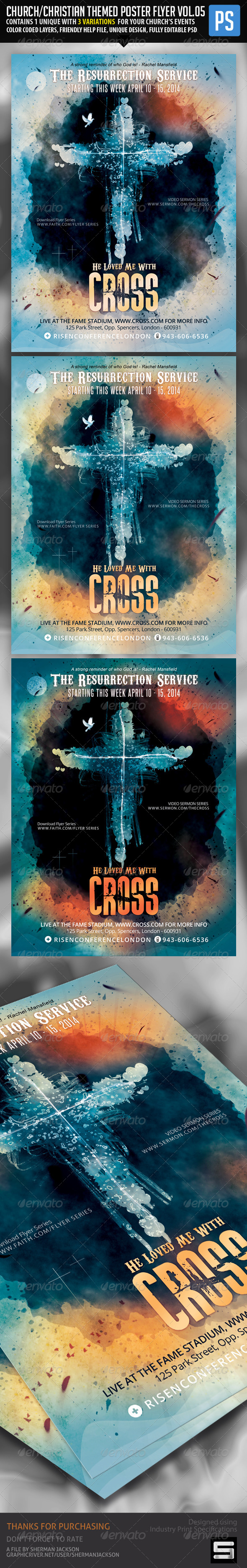 Church/Christian Themed Poster/Flyer Vol.5 - Church Flyers