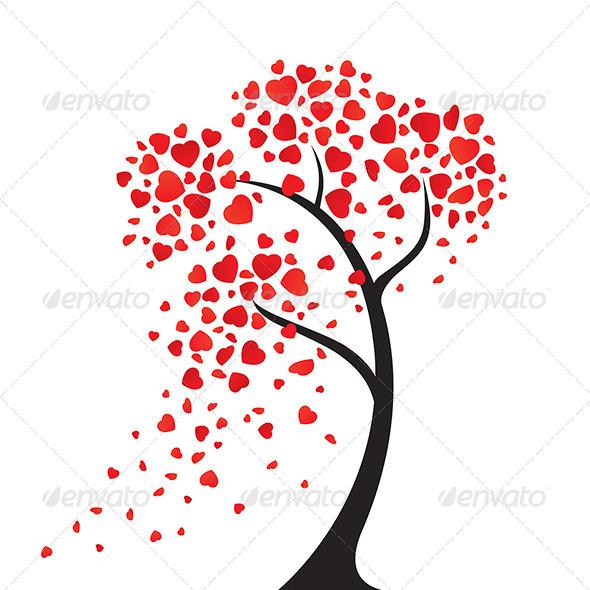 The Hearts Tree - Decorative Symbols Decorative